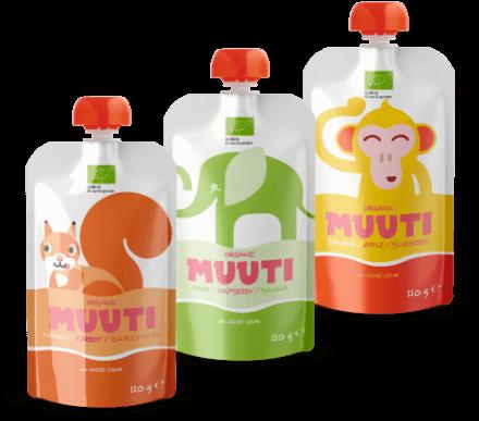 Sada tří různých ovocných kapsiček Muuti